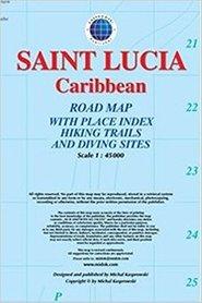 SAINT LUCIA mapa turystyczna 1:45 000 KASPROWSKI