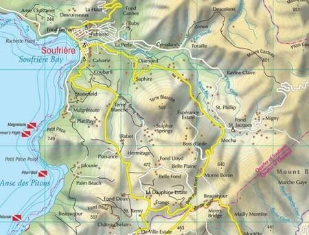 SAINT LUCIA mapa turystyczna 1:45 000 KASPROWSKI (2)