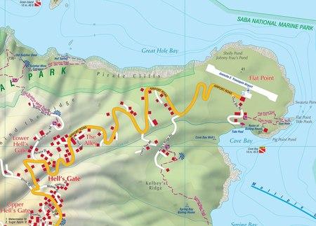 SABA mapa turystyczna 1:7 000 KASPROWSKI (2)