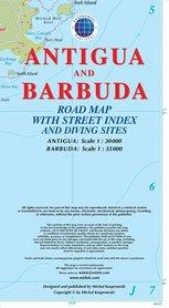 ANTIGUA I BARBUDA mapa turystyczna KASPROWSKI