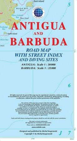 ANTIGUA I BARBUDA mapa turystyczna KASPROWSKI (1)