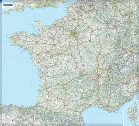FRANCJA mapa ścienna 1:1 000 000 MICHELIN 2020