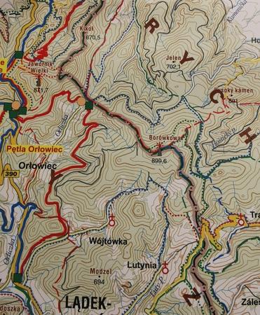 ZIEMIA KŁODZKA wodoodporna mapa tras rowerowych - Singletrack Glacensis STUDIO PLAN 2020 (3)