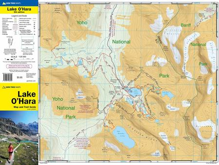JEZIORO O'HARA mapa 1:20 000 GEM TREK 2020 (2)