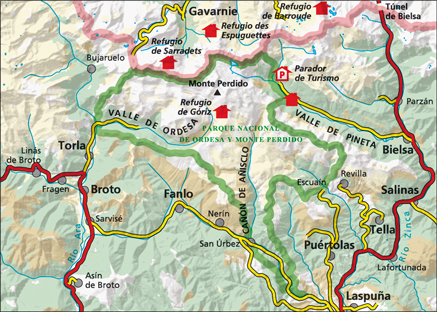 ORDESA MONTE PERDIDO mapa turystyczna 1:40 000 ALPINA 2020/2021 (3)