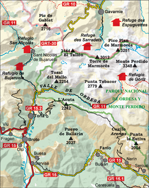 ORDESA MONTE PERDIDO mapa turystyczna 1:25 000 ALPINA 2020/2021 (2)