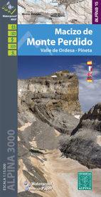 MACIZO DE MONTE PERDIDO mapa turystyczna 1:15 000 ALPINA