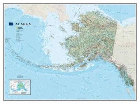 ALASKA mapa ścienna 1:3 660 000 NATIONAL GEOGRAPHIC (1)