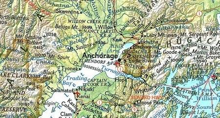 ALASKA mapa ścienna 1:3 660 000 NATIONAL GEOGRAPHIC (2)