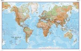 ŚWIAT FIYCZNY mapa ścienna 1:30 000 000 MAPS INTERNATIONAL