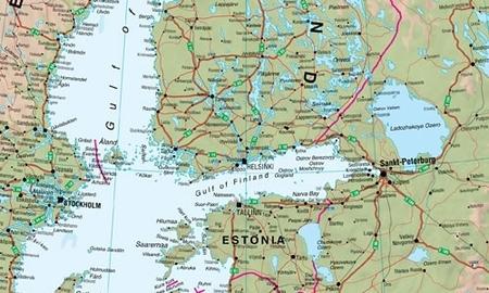 EUROPA ścienna mapa fizyczna laminowana  1:4 300 000 MAPS INTERNATIONAL 2020 (3)