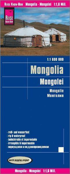 MONGOLIA mapa 1:1 600 000 REISE KNOW HOW 2020