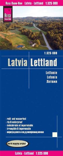 ŁOTWA mapa 1:325 000 REISE KNOW HOW 2019 (1)