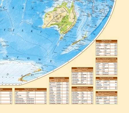 ŚWIAT UKSZTAŁTOWANIE POWIERZCHNI mapa ścienna 1:18 000 000 EKOGRAF 2020 (2)