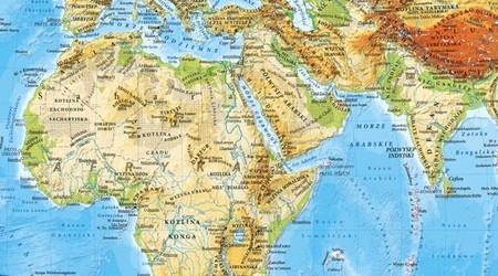 ŚWIAT UKSZTAŁTOWANIE POWIERZCHNI mapa ścienna 1:18 000 000 EKOGRAF 2020 (3)