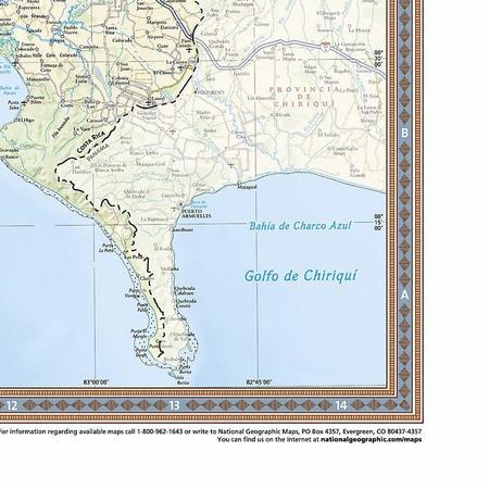 KOSTARYKA mapa ścienna NATIONAL GEOGRAPHIC (2)