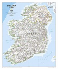 IRLANDIA mapa ścienna NATIONAL GEOGRAPHIC