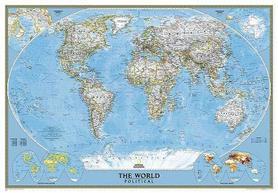 ŚWIAT mapa ścienna fototapeta 279 x 193 cm NATIONAL GEOGRAPHIC