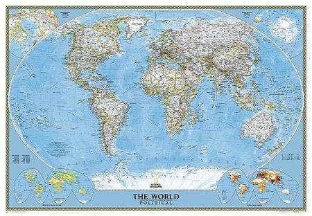 ŚWIAT mapa ścienna fototapeta 279 x 193 cm NATIONAL GEOGRAPHIC (1)