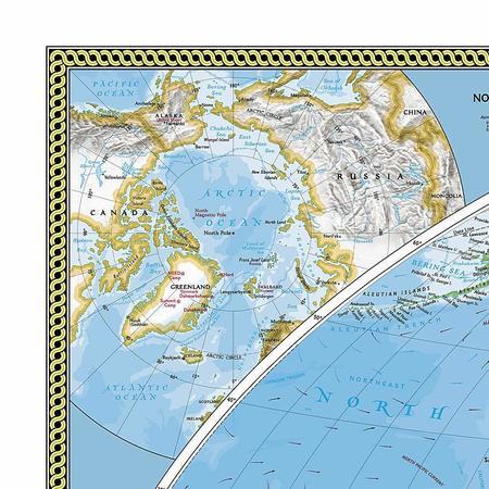 ŚWIAT mapa ścienna fototapeta 279 x 193 cm NATIONAL GEOGRAPHIC (2)