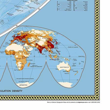 ŚWIAT mapa ścienna fototapeta 279 x 193 cm NATIONAL GEOGRAPHIC (3)