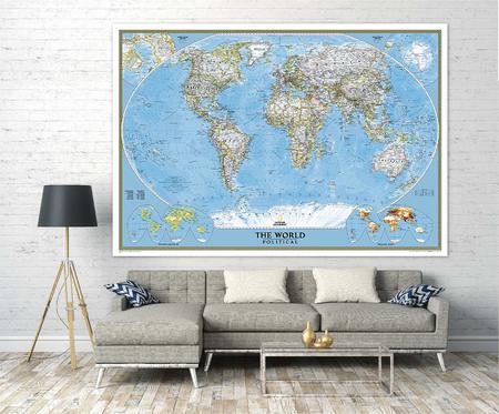ŚWIAT mapa ścienna fototapeta 279 x 193 cm NATIONAL GEOGRAPHIC (5)