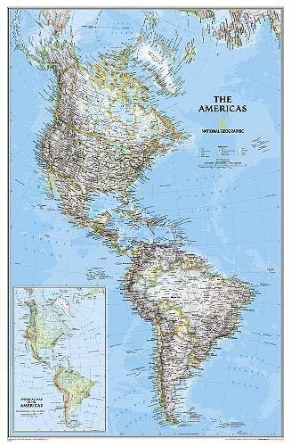 AMERYKA PÓŁNOCNA I POŁUDNIOWA mapa ścienna NATIONAL GEOGRAPHIC (1)