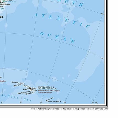 AMERYKA PÓŁNOCNA I POŁUDNIOWA mapa ścienna NATIONAL GEOGRAPHIC (2)