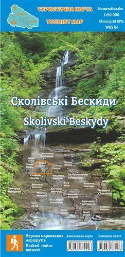 BESKIDY SKOLSKIE Skolivski Beskydy 1:50 000 mapa turystyczna HUTYRIAK