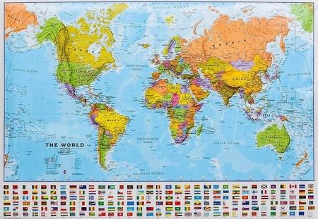 ŚWIAT polityczna mapa ścienna 103 x 74 cm 1:40 000 000 Maps International (1)