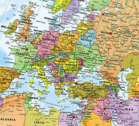 ŚWIAT 1:30 000 000 PACYFIKOCENTRYCZNA mapa ścienna MAPS INTERNATIONAL (2)