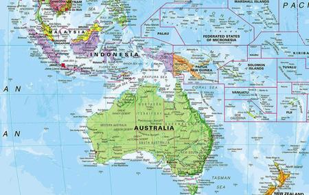 ŚWIAT 1:30 000 000 PACYFIKOCENTRYCZNA mapa ścienna MAPS INTERNATIONAL (3)