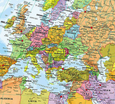 ŚWIAT 1:30 000 000 PACYFIKOCENTRYCZNA laminowana mapa ścienna MAPS INTERNATIONAL (2)