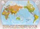 ŚWIAT 1:30 000 000 PACYFIKOCENTRYCZNA laminowana mapa ścienna MAPS INTERNATIONAL (1)