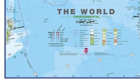 ŚWIAT 136 x 86 cm laminowana mapa geograficzna 1:30 000 000 MAPS INTERNATIONAL (3)