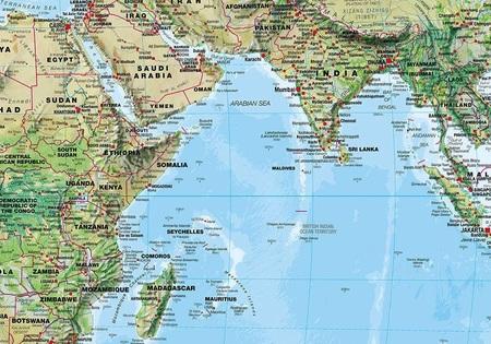 ŚWIAT 136 x 86 cm laminowana mapa geograficzna 1:30 000 000 MAPS INTERNATIONAL (4)