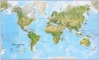 ŚWIAT 136 x 86 cm laminowana mapa geograficzna 1:30 000 000 MAPS INTERNATIONAL (1)