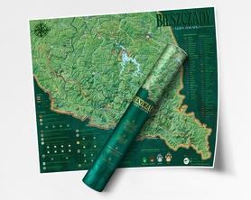 BIESZCZADY mapa zdrapka NaGrani 2020