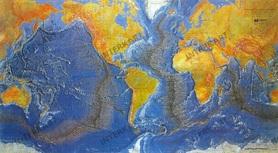 ŚWIAT MAPA DNA OCEANICZNEGO mapa plastyczna AEP