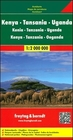 KENIA TANZANIA UGANDA mapa 1:2 000 000 FREYTAG & BERNDT (1)