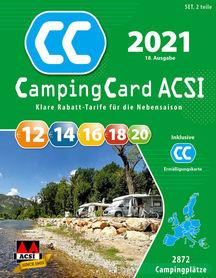 EUROPA Przewodnik CampingCard ACSI i karta rabatowa 2021 j.niemiecki