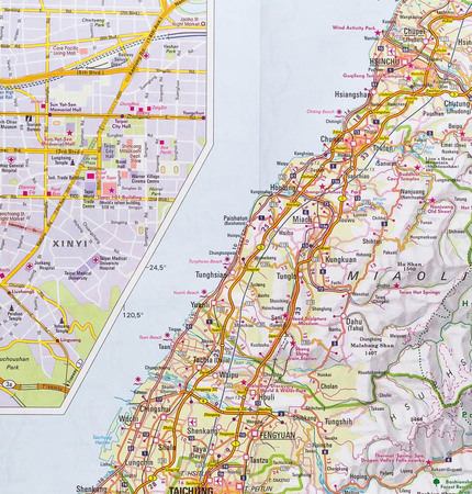 TAIWAN TAJWAN mapa wodoodporna 1:400 000 NELLES 2020 (3)