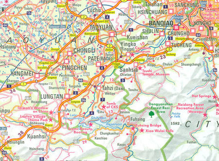TAIWAN TAJWAN mapa wodoodporna 1:400 000 NELLES 2020 (4)