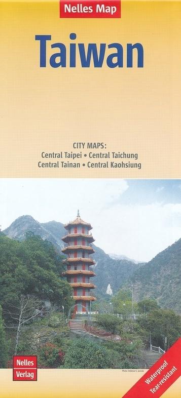 TAIWAN TAJWAN mapa wodoodporna 1:400 000 NELLES 2020 (1)
