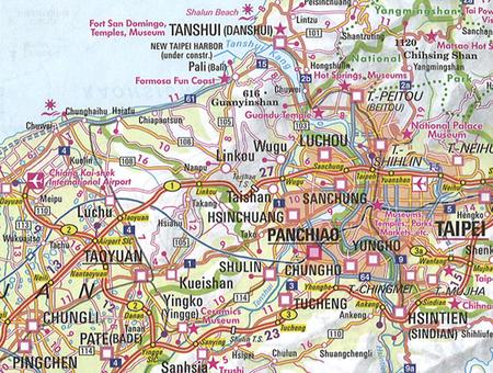 TAIWAN TAJWAN mapa wodoodporna 1:400 000 NELLES 2020 (6)
