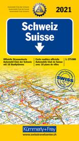 SZWAJCARIA 2021 mapa samochodowa 1:275 000 KUMMERLY+FREY