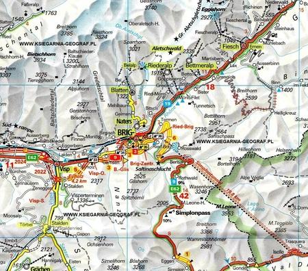 SZWAJCARIA 2021 mapa samochodowa 1:275 000 KUMMERLY+FREY (3)