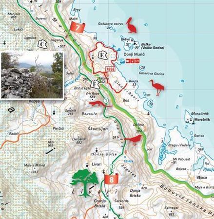 JEZIORO SZKODERSKIE SKADAR LAKE mapa turystyczna HUBER (3)