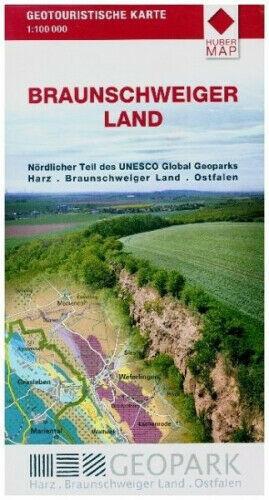 Braunschweiger Land UNESCO GLOBAL GEOPARK HARZ mapa turystyczna HUBER