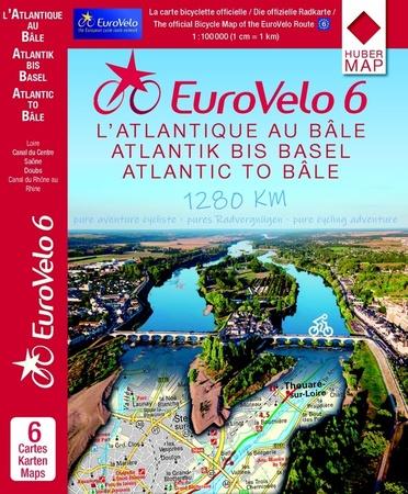 EUROVELO 6 BAZYLEA - ATLANTYK komplet map rowerowych 1:100 000 HUBER (1)
